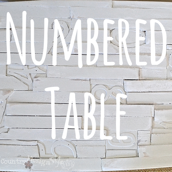 Numbered Table