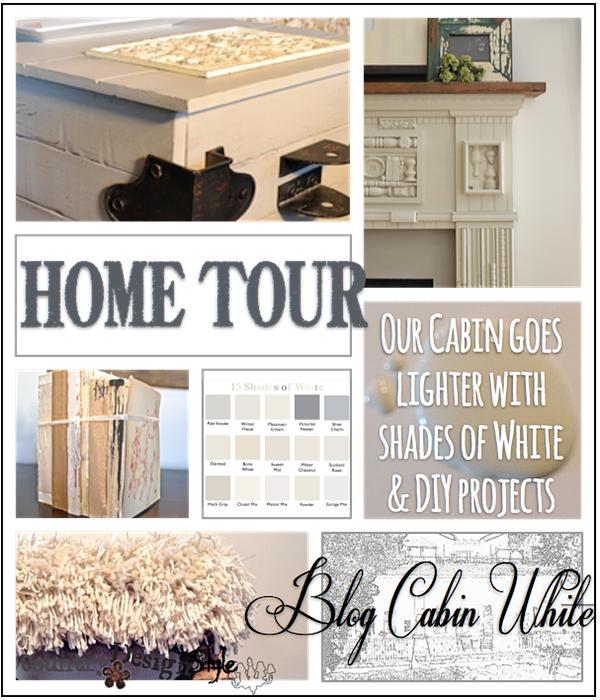 Blog Cabin White http://countrydesignstyle.com #cabin #white #blog
