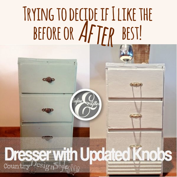 Dresser Painting and Updated Knobs