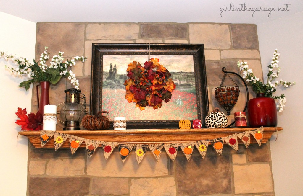 fall mantle arrangement photography - photo #25