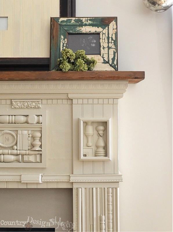 My inspired mantel https://countrydesignstyle.com #mantel