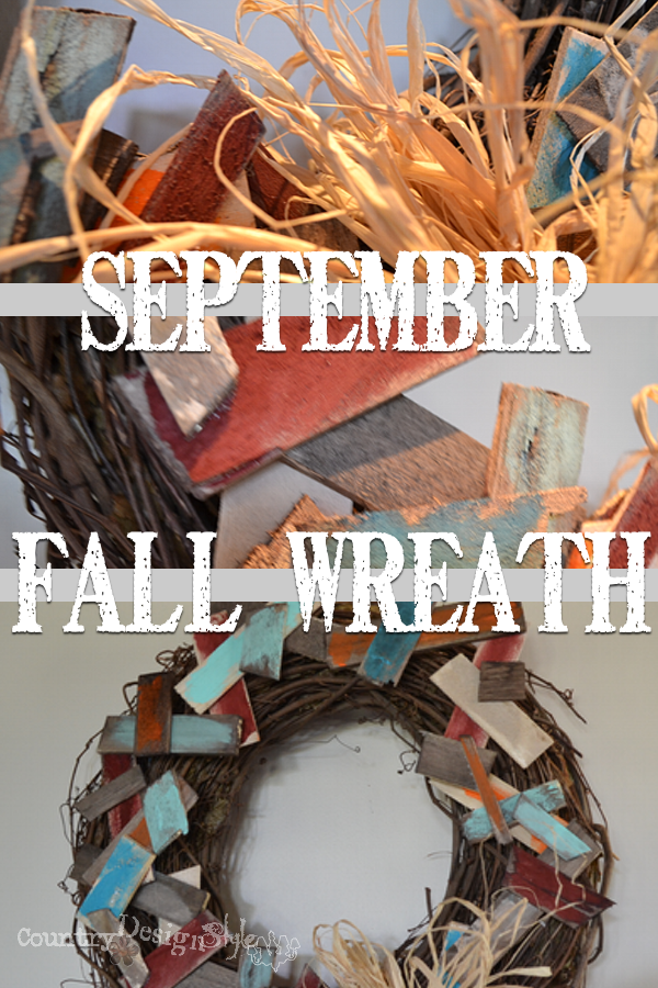 September Fall Wreath https://countrydesignstyle.com #wreath #fall #autumn