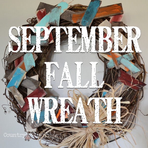 September fall wreath https://countrydesignstyle.com #fall #wreath #rustic