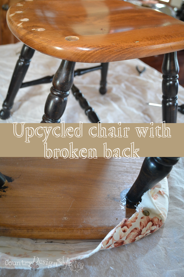 upcycled chair http://countrydesignstyle.com