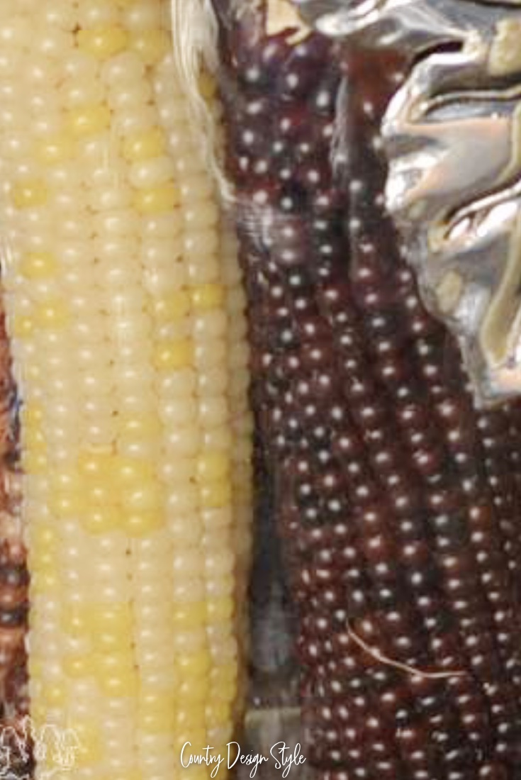 Indian corn on our fall home decor tour