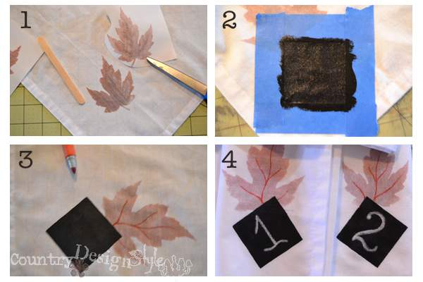 fall chalk napkins http://countrydesignstyle.com