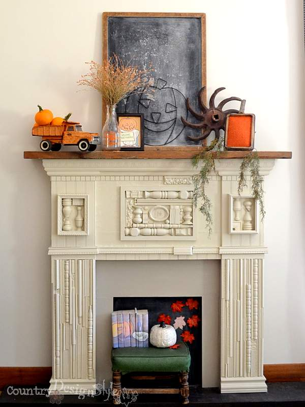 fall mantel http://countrydesignstyle.com