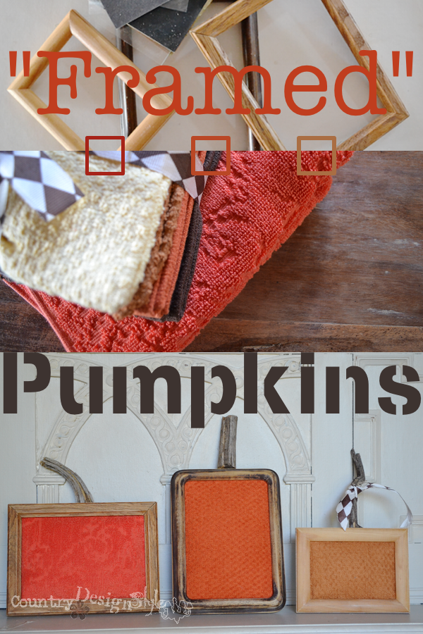 Framed Pumpkins https://countrydesignstyle.com #pumpkin #fall #halloween