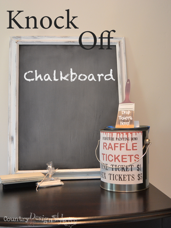 raffle prize http://countrydesignstyle.com #chalkboard #thriftydecorating