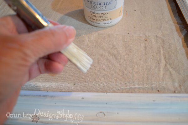 waxing http://countrydesignstyle.com #chalkboard #thriftydecorating