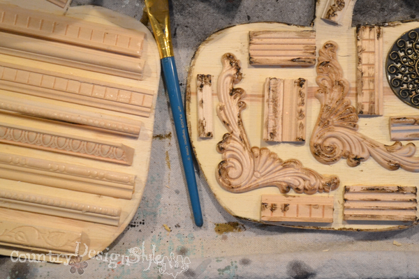 wax to make sanding and aging easier http://countrydesignstyle.com #scraps #junk #pumpkins