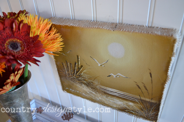 artwork-burlap-frame-country-design-style