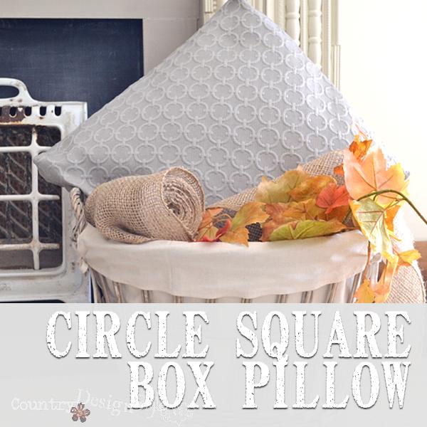 Circle Square Box Pillow