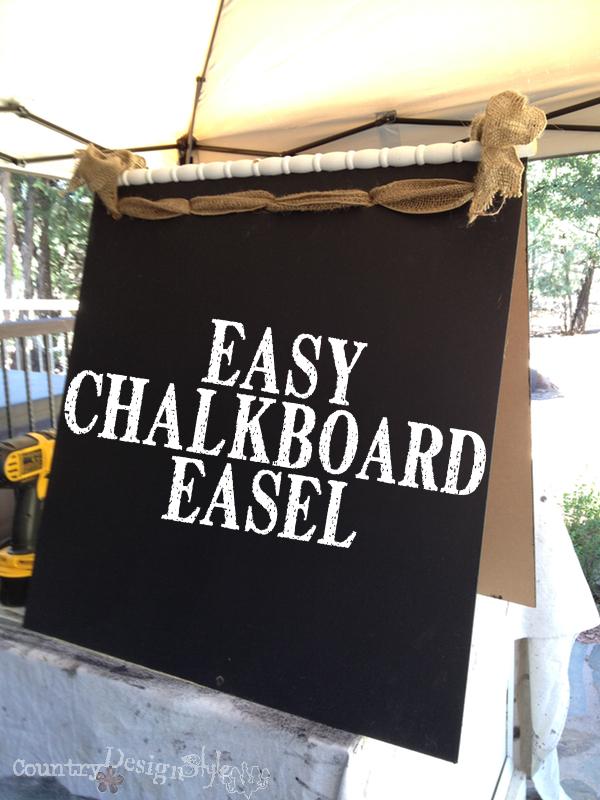 Easy Chalkboard Easel https://countrydesignstyle.com #chalkboard #easel #diy