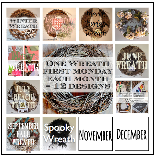 Spooky Wreath https://countrydesignstyle.com #halloween #wreath