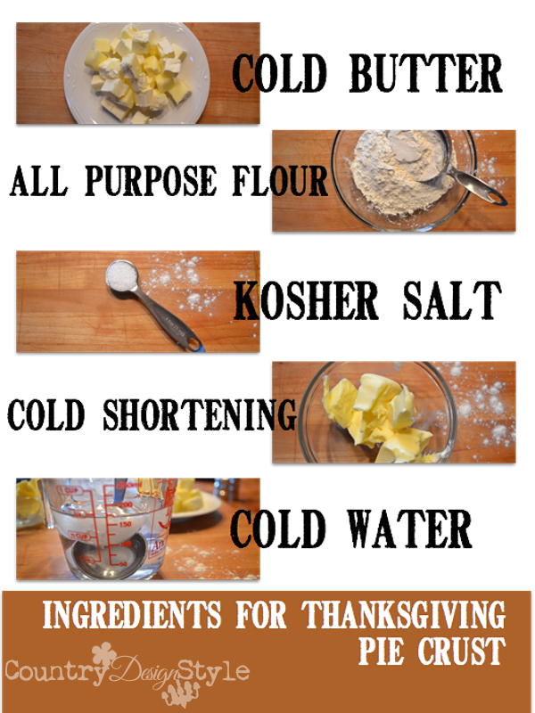 ingredients for pie crust country design style