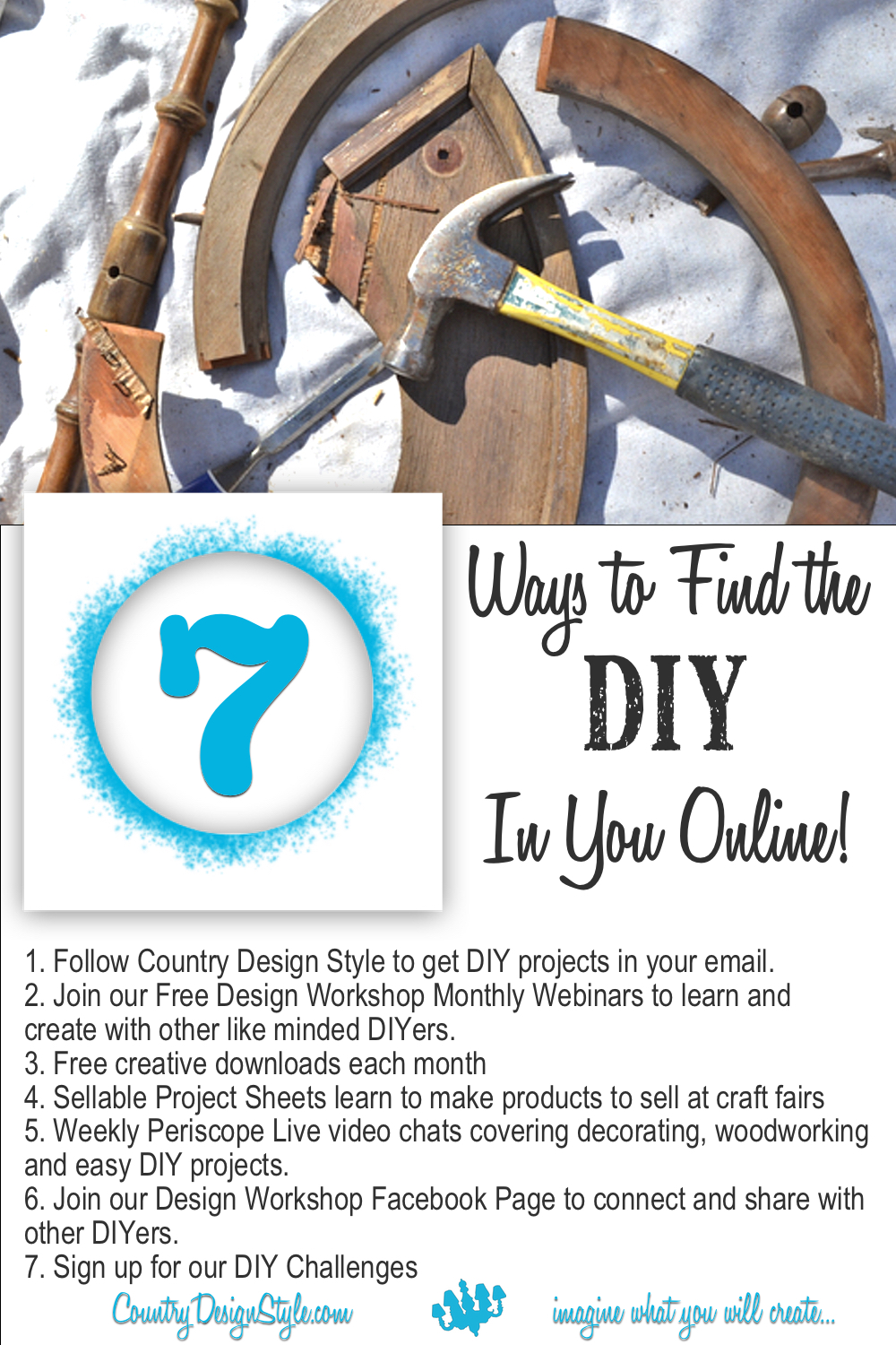 7 ways to find the diy in you online | Country Design Style | countrydesignstyle.com