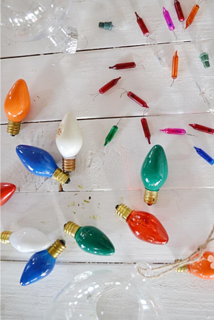 Dead bulb ornaments