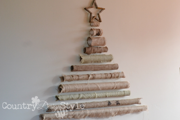 Burlap Paper Roll Tree