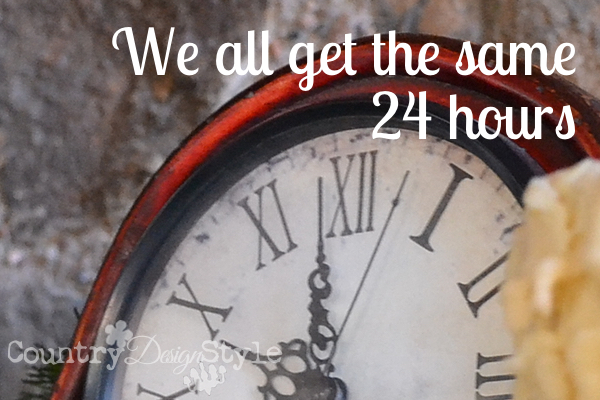 We all get the same 24 hours