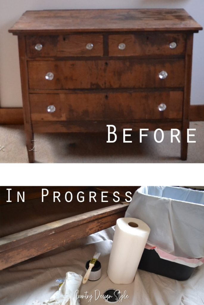 easy distressing technique   painting furniture   furniture update