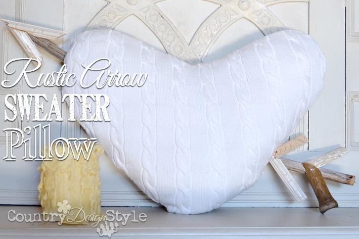 Rustic Arrow Sweater Pillow