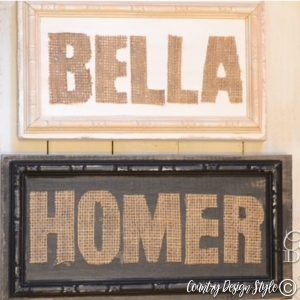 Burlap Signs | Country Design Style | countrydesignstyle.com