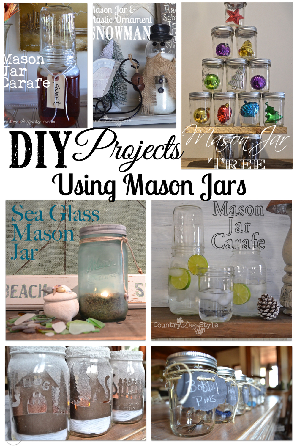 Diy projects with mason jars - Easy To Find Diy By Material Used In Making Projects This Group Of Diy Projects