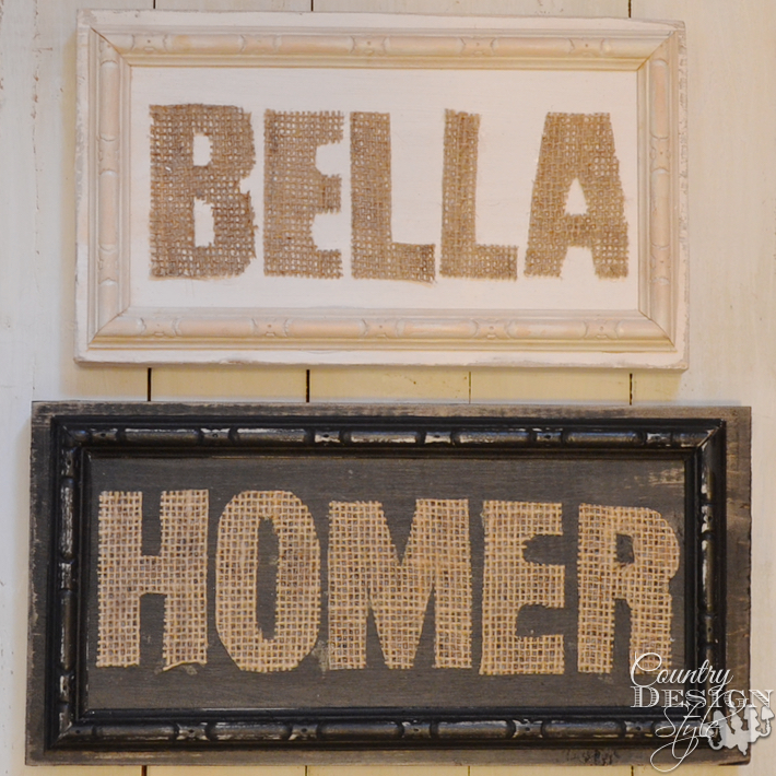 Homer and bella cut outs country design style