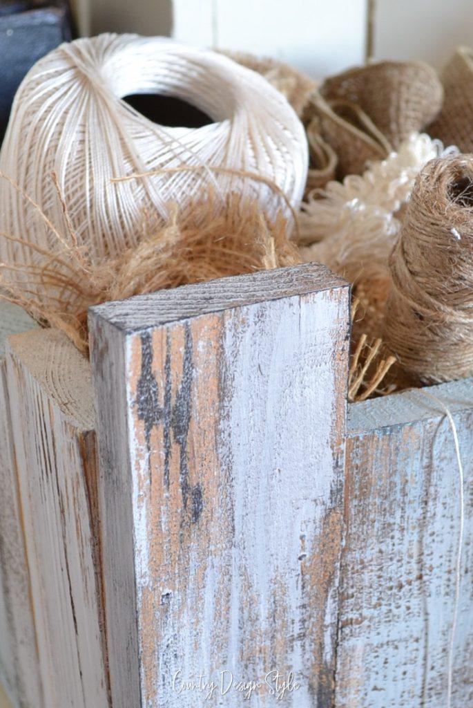 Rustic box | make a box | rustic decor | storage box | Country Design Style