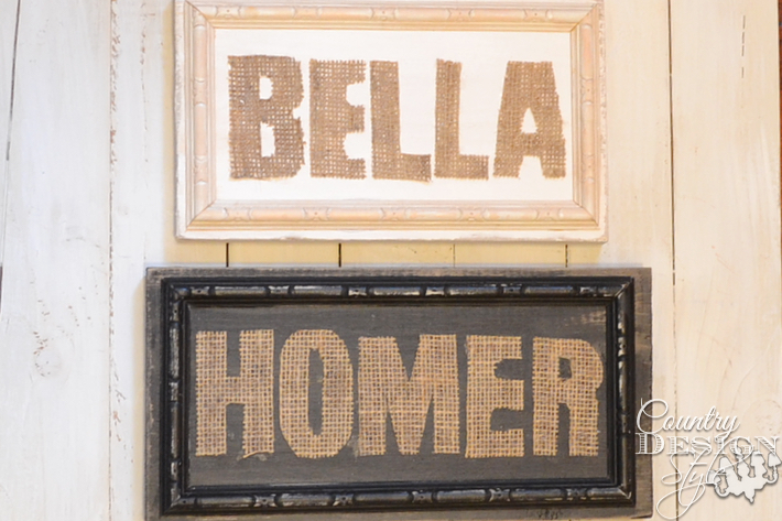 Burlap Cut Out Signs