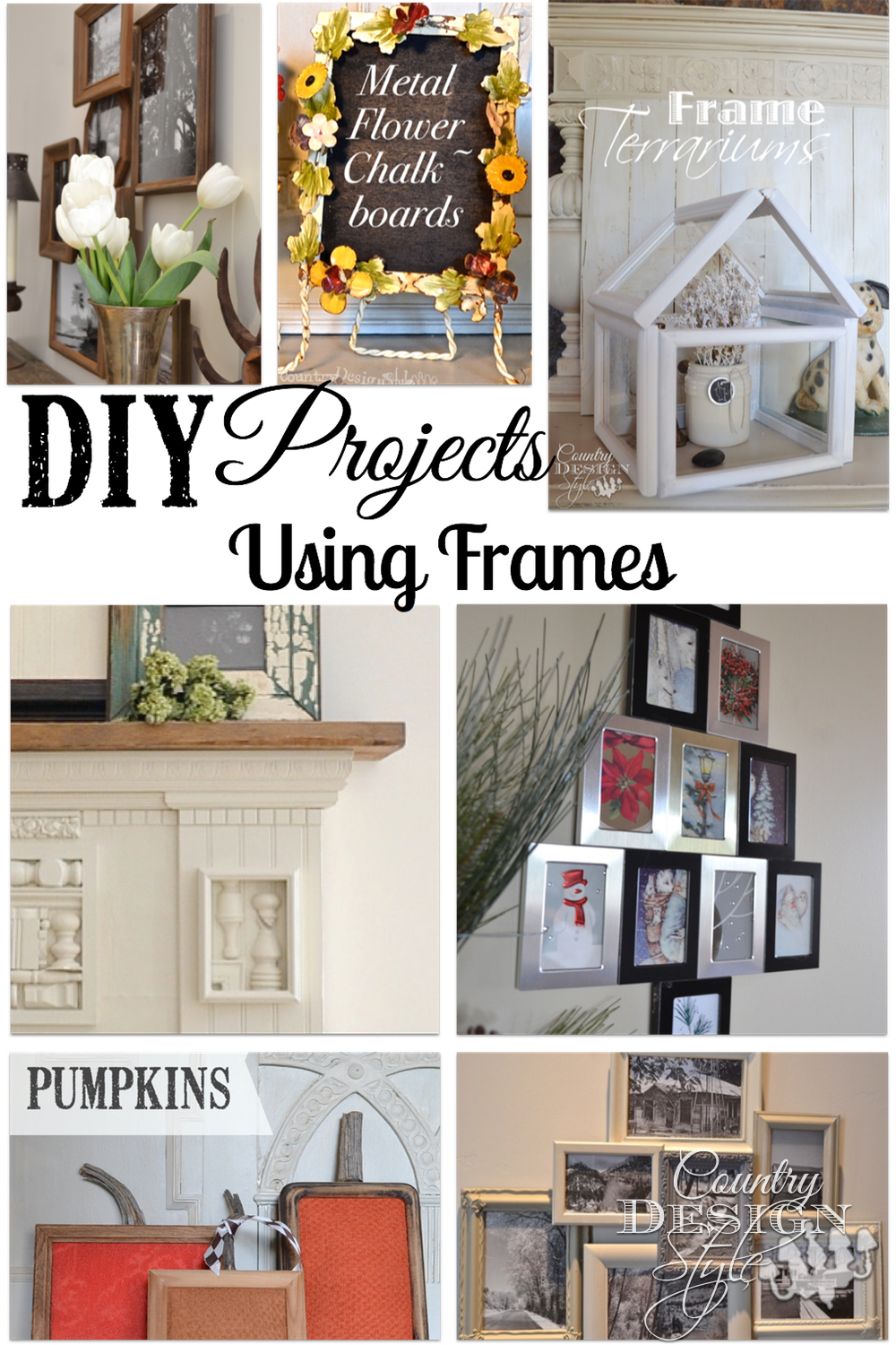 How To And Diy Projects Using Frames Most From The Thrift Country Design