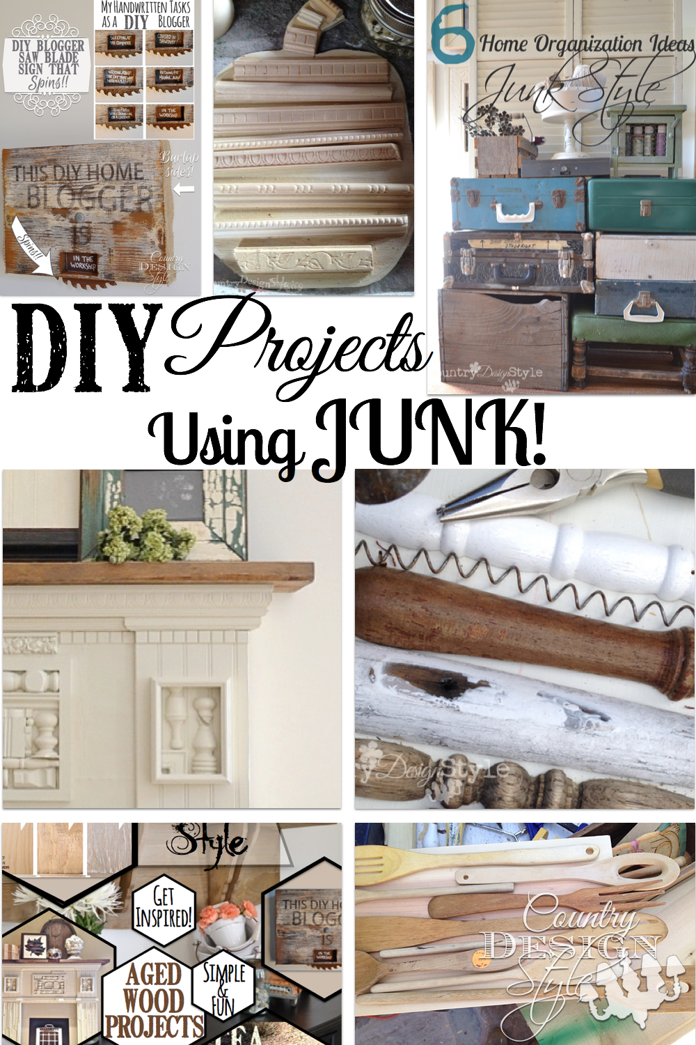 Junk Country Design Style : diy projects using junk country design style pn from countrydesignstyle.com size 1000 x 1500 jpeg 1660kB