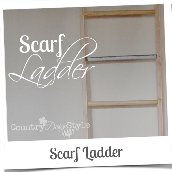 scarf ladder country design style