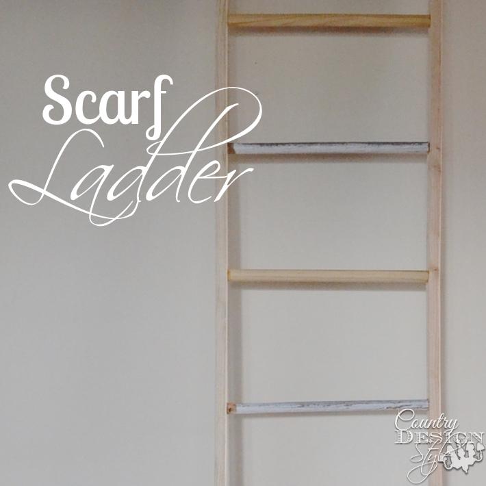 Scrap ladder made from scrap wood