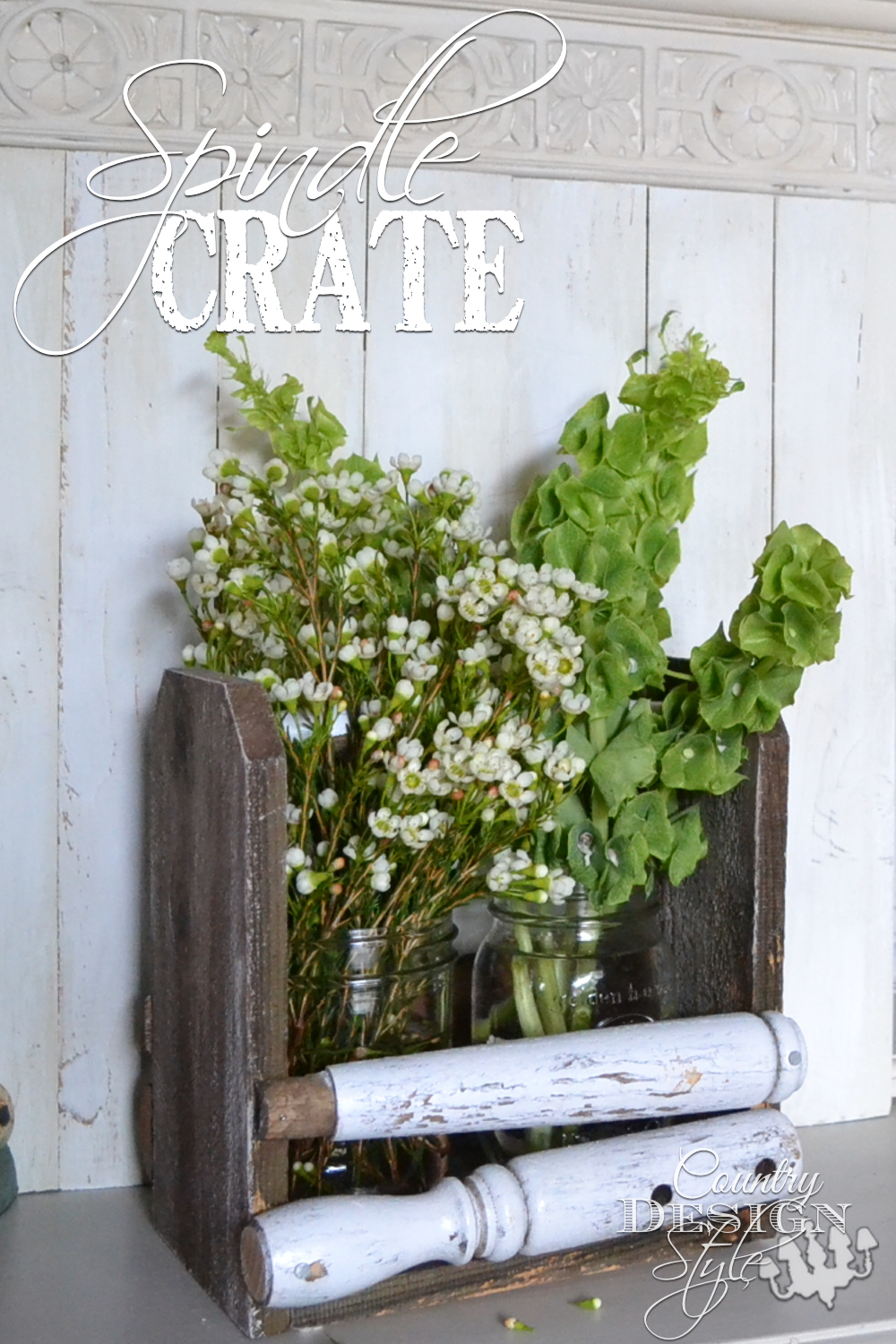 How to DIY tutorial to make this spindle crate including a video on splitting spindles. Country Design Style