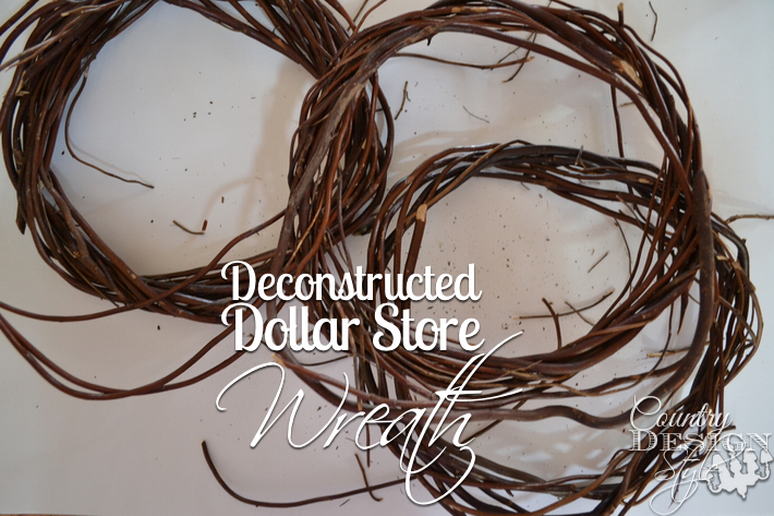 Deconstructed Dollar Store Wreath