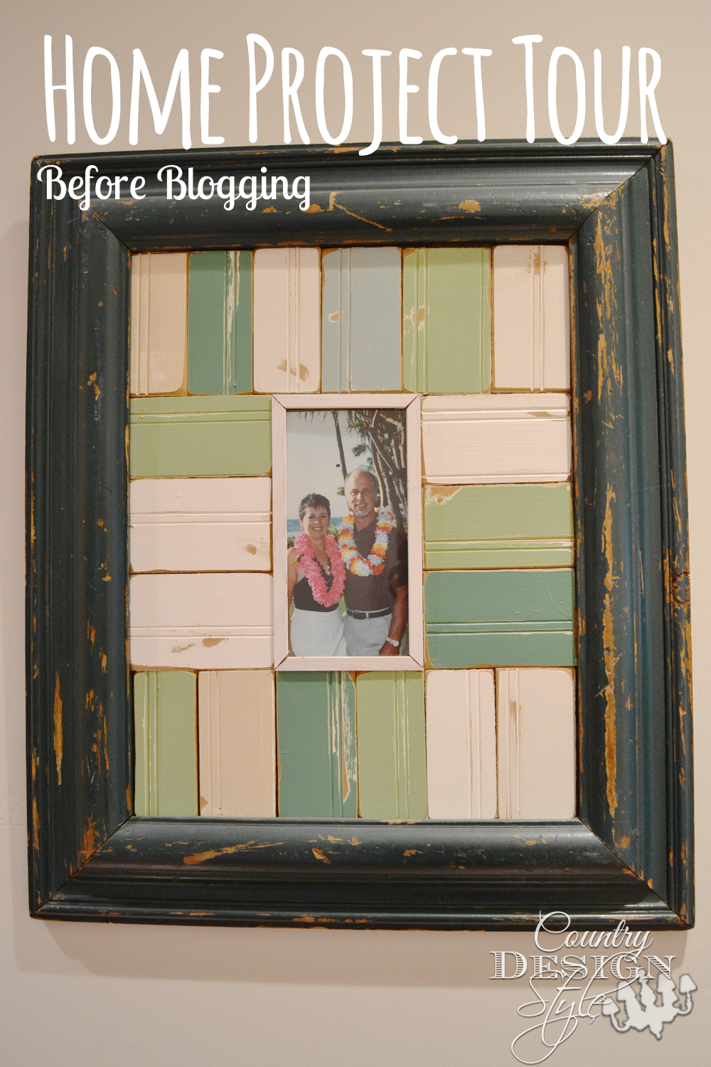 Frame inspired from a home catalog made before blogging. Country Design Style