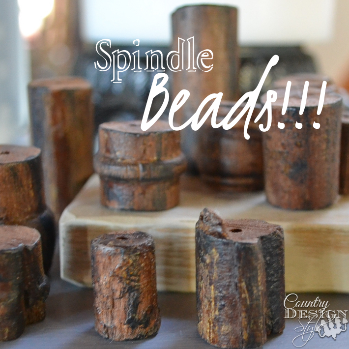 Spindle Beads made from one spindle Country Design Style
