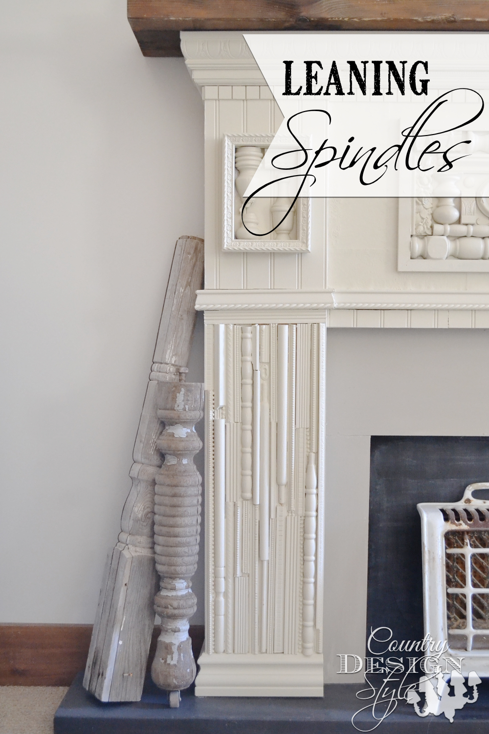 DIY projects and how to use broken spindles around the house for rustic style. Country Design Style