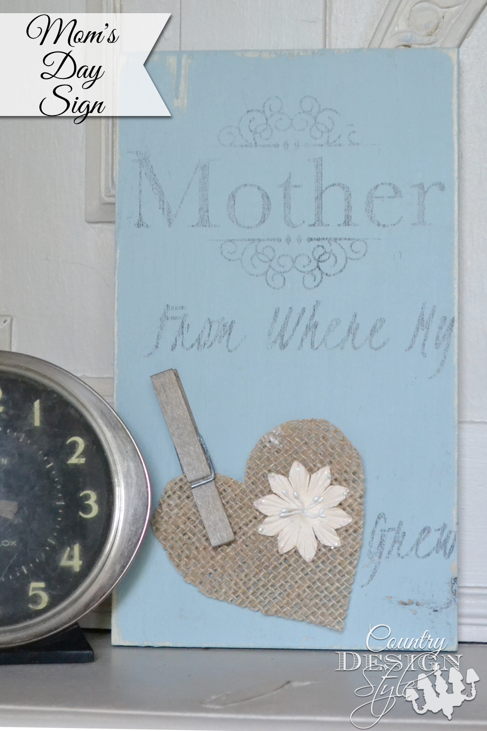 How to video for making a sign for mom with video.  Country Design Style