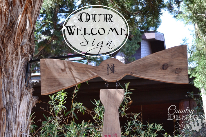 Our Welcome Sign