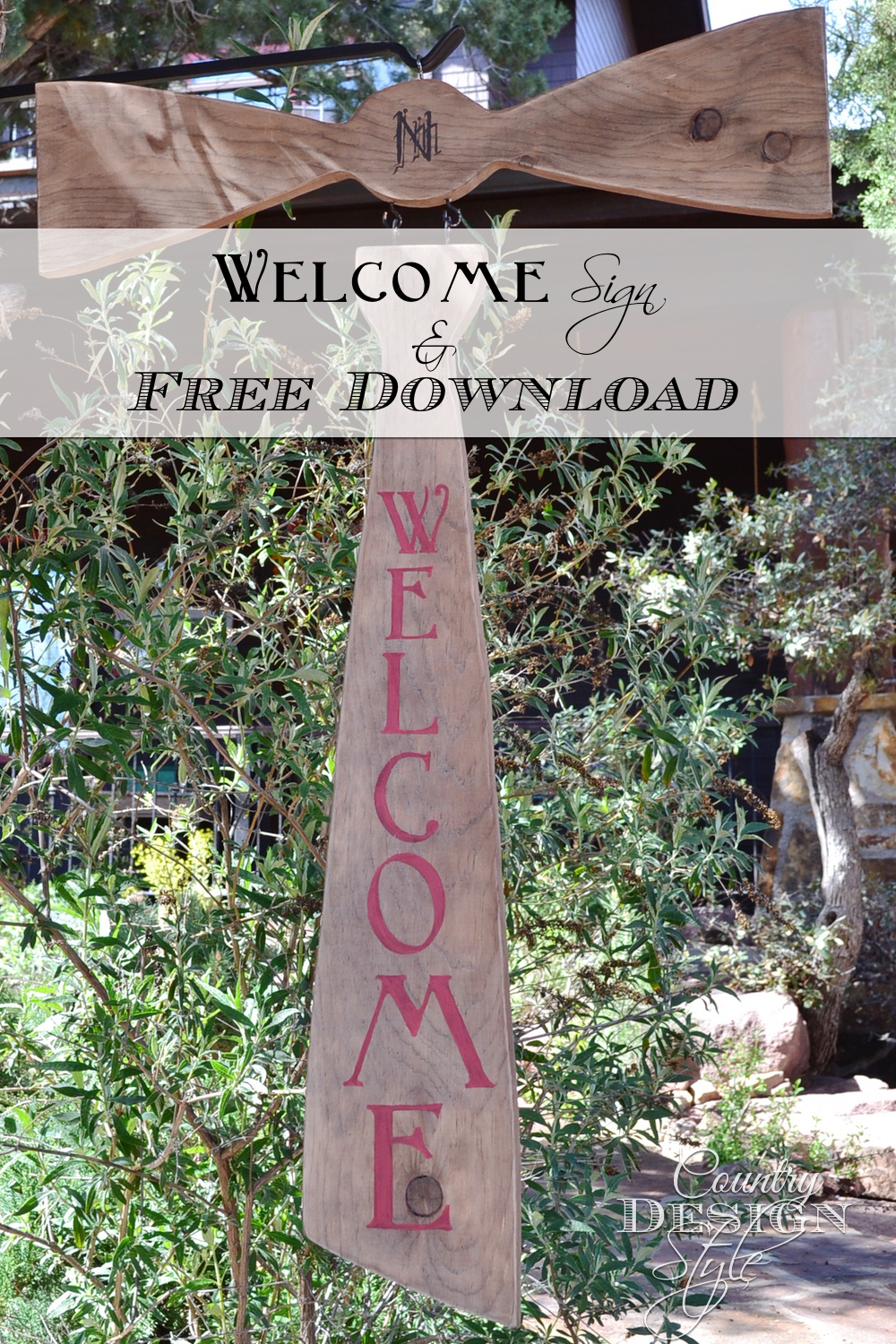 Our Welcome sign and free download. Country Design Style