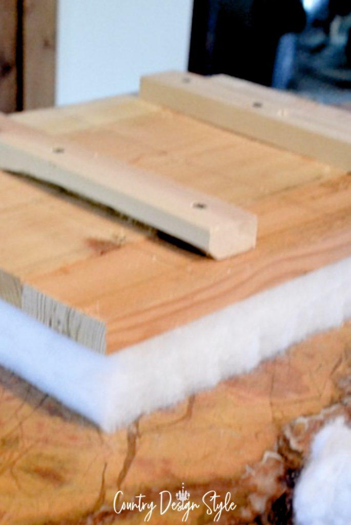 adding padding to wood top