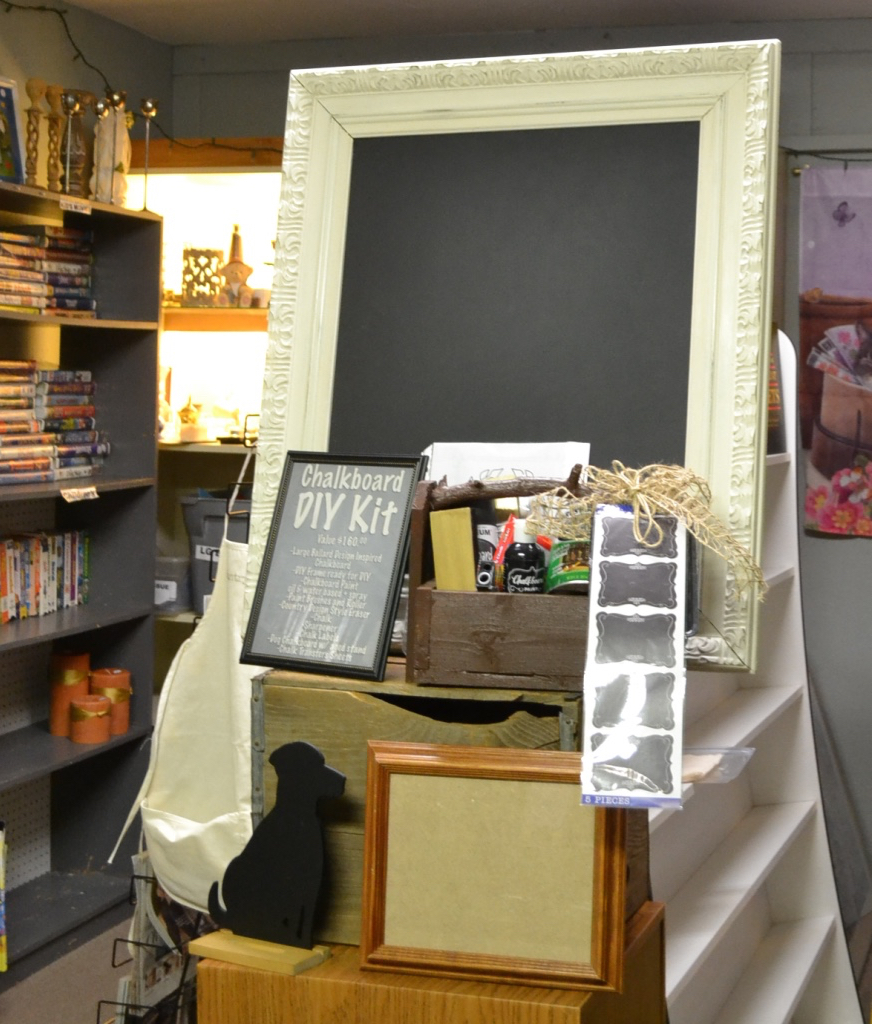 Raffle Prize for the Thrift Benefit for Sheltered Animals at our Humane Society's Resale Store. Chalkboard DIY Kit. Country Design Style