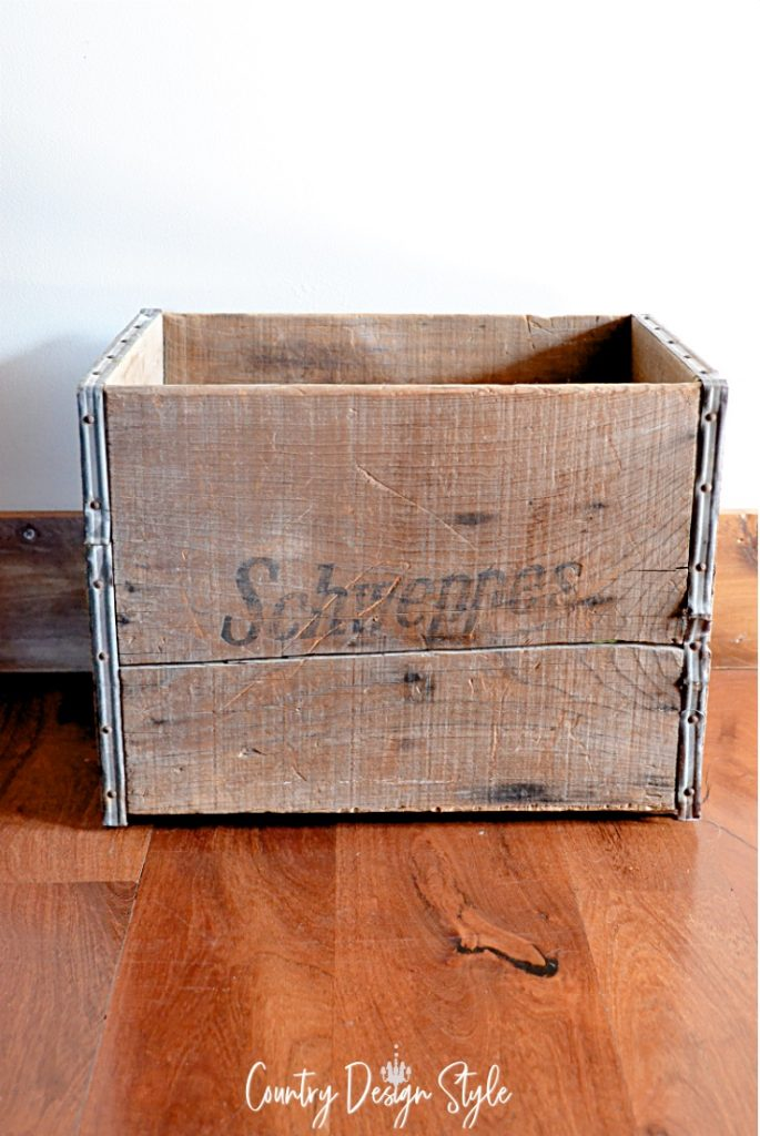 Crate before