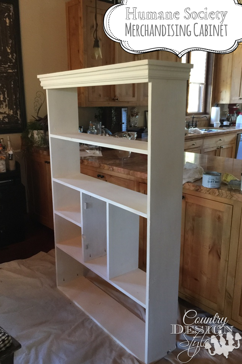 Making a cabinet for our local Humane Society to display merchandise such as t-shirts and caps for sale.  Helping the puppies and kitties is my best way...DIY!  Country Design Style