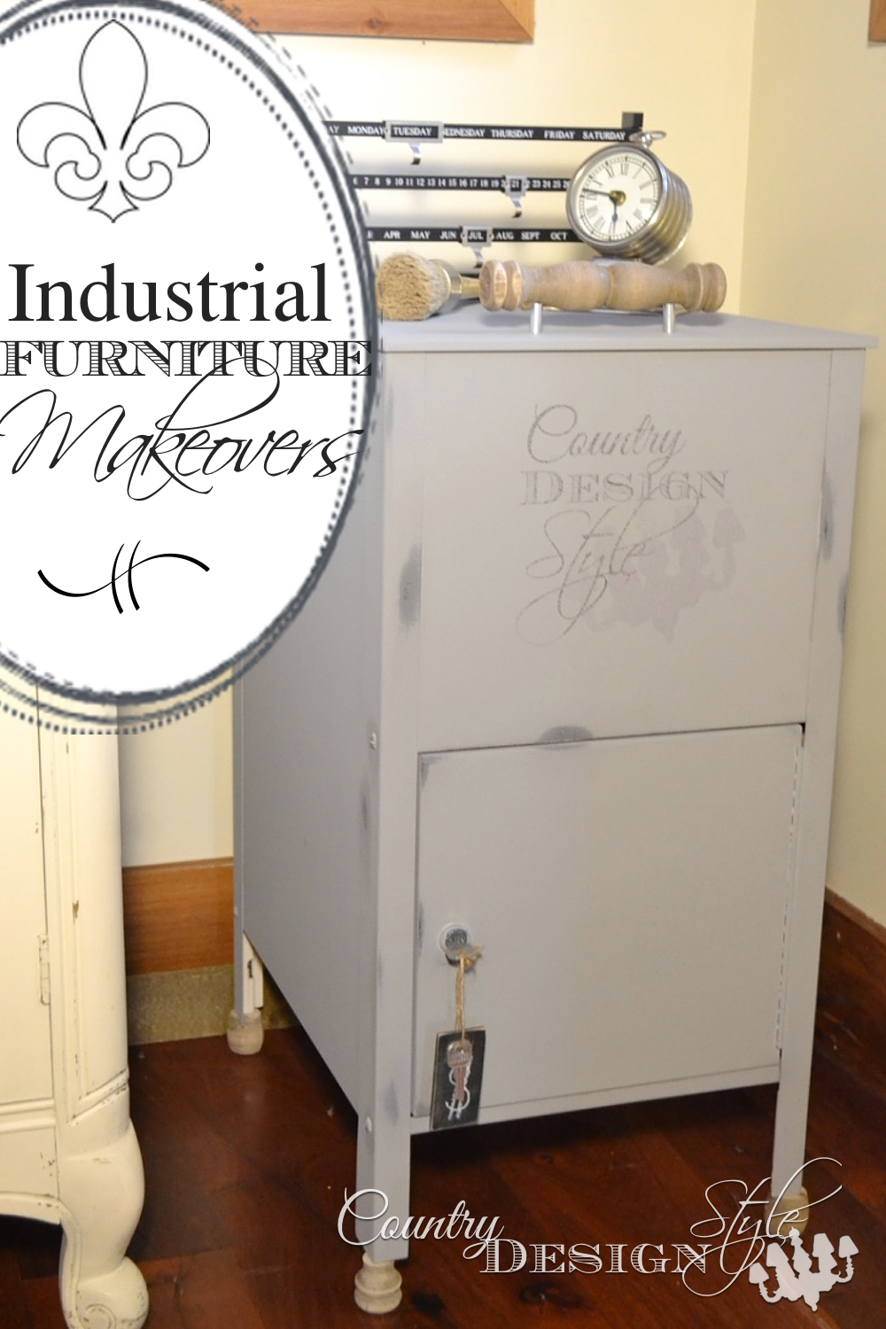 Industrial furniture makeovers. Click to get inspired to update furniture to industrial farmhouse style with these easy DIY tips. Country Design Style