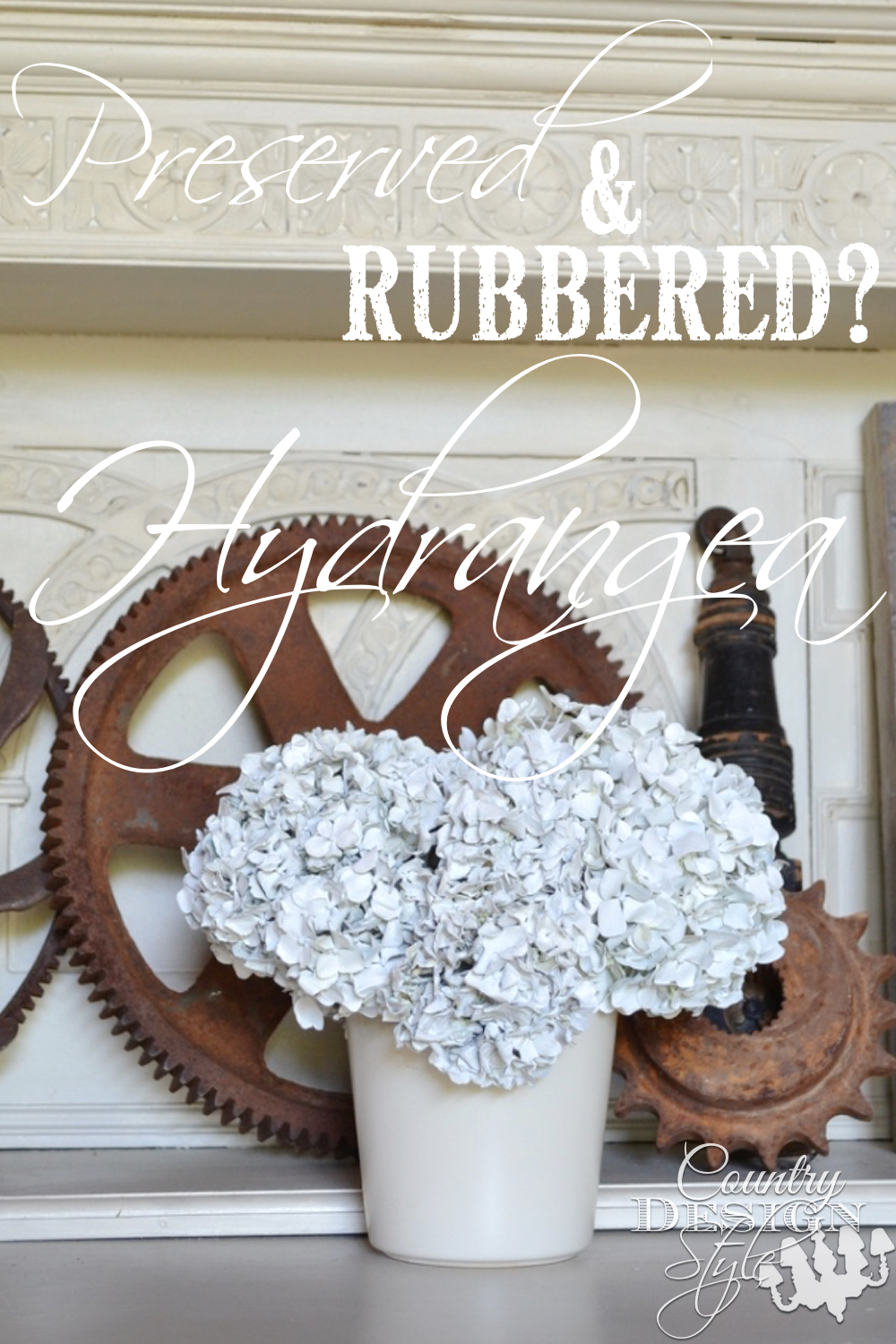 Preserved hydrangeas using spray paint. Easy and different. Country Design Style