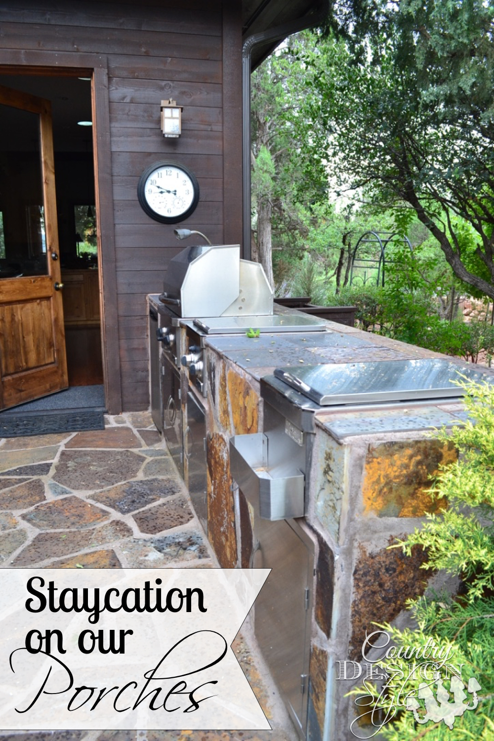 We live in a cabin so staycations happen here all the time. Camping type meals, easy clean up, and the comfort of our own beds is the best way to staycation. Country Design Style